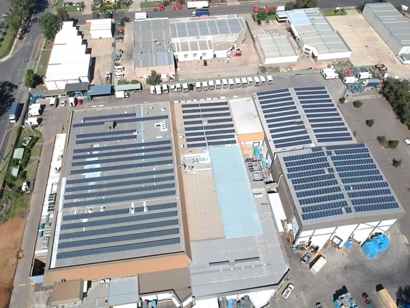 Sams Solar Power Installation Projects - B&E Foods Processing Plant